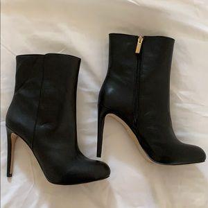 Black Mid Calf Stiletto Bootie